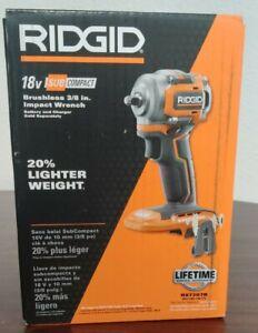RIDGID 18V SUBCOMPACT BRUSHLESS 3/8 IN. IMPACT WRENCH R87207B
