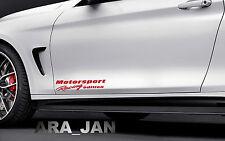 Motorsport Racing edition Vinyl Decal sport door sticker fits BMW decal RED