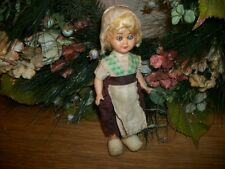 Celluloid Toy Doll Dutch Girl Sleepy Eyes Jointed  Antique 1920's Collectible