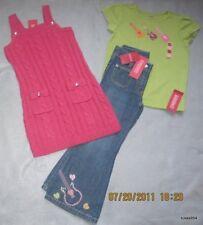 Gymboree Popstar Academy Blue Denim Pants Green Top Pink Sweater Tunic 5 NWT New