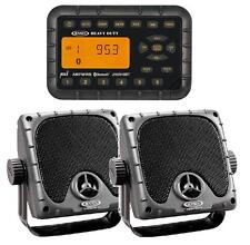Jensen Weatherproof ATV Motorcycle Skidsteer JHD910BT Bluetooth Radio + Speakers