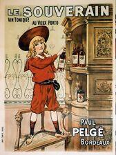 """""""LE SOUVERAIN"""" Affiche originale entoilée  litho CAMIS début 1900 103x133cm"""