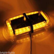 12v - 24v AMBER LED LIGHTBAR RECOVERY STROBE FLASHING LIGHT BAR MAGNETIC BEACON
