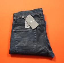 7 for all Mankind Slimmy Leather Denim Indigo 29 RRP £220