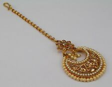 Forehead Maang Tikka Women New Bollywood Indian Jewelry Wedding Gold Plated
