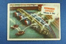 1954 Topps Scoop - #43 Normandie Capsizes  - G/VG Condition