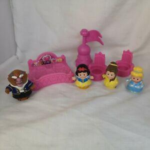Fisher Price Little People Disney Princess Accessories & Figures Bundle