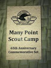 VINTAGE BSA MANY POINT CAMP 2011 ANNIVERSARY COMMEMORATIVE SET