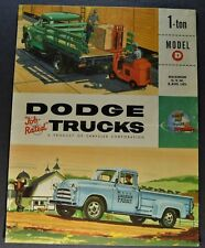 1955 Dodge 1-Ton Truck Brochure Folder Pickup Stake Nice Original 55