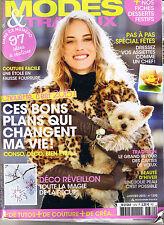 Mode et Travaux n° 1370 Janvier 2015 magazine Tricot Couture déco