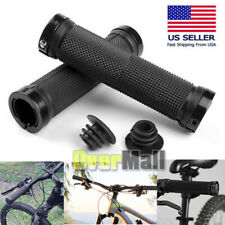 Ergonomic Rubber MTB Mountain Bike Bicycle Handlebar Grips Cycling Lock-On Ends