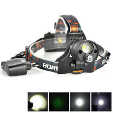 Rechargeable LED Green Laser 18650 Zoomable Headlamp Hunting light Torch Charger