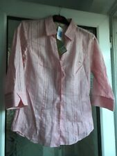 MARKS AND SPENCER SIZE 8 PINK EMBROIDERED COLLARED SHIRT TOP BNWT