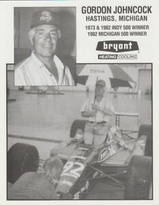 1991 Gordon Johncock Bryant Cosworth Lola Indy 500 Indy Car postcard