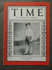 Vintage Time Magazine August 1, 1927  Bonny King Michael cover