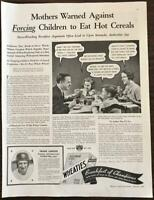 Vintage 1935 Wheaties PRINT AD Frank Larson All-American Football Star