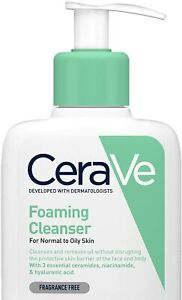 CeraVe Foaming Cleanser 236ml/8oz Daily Face Body & Hand Wash Normal toOily Skin