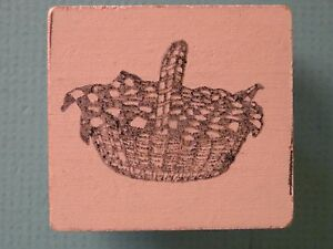 Covered Picnic Basket Rubber Stamp