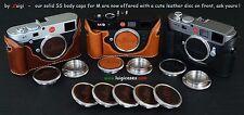 LUIGI's SOLID STAINLESS STEEL+LEATHER BODY CAP x LEICA M9,M8,M7,M6,M5,M4,M3,M2++