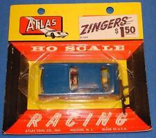 ATLAS HO 1/87 SCALE SLOT CAR - AVANTI ZINGERS 1299 BLUE FACTORY SEALED CARD
