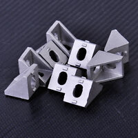 10xAluminum Bracket 90 Degree Double Side L Shape Corner Joint Brace Right Angle