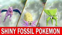 Pokemon Let's GO Shiny Aerodactyl, Kabutops & Omastar [ 6 IV ]