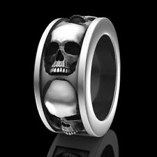 Men Fashion Stainless Steel Skull Ring Punk Engagement Jewelry Rings Size 7 #v