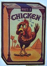 "Original ""Who's A Chickenl� Iron On Transfer *Cigarettes*"