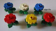 Lego 6 Fleurs Flowers 4727 & 4728 Maison House Building Town Fabuland
