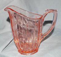 Art Deco Kännchen Milchkännchen Pressglas, lachsrosa