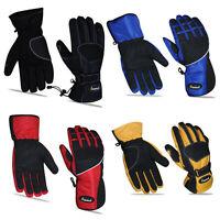 Mens Textile Motorbike Motorcycle Gloves Waterproof Reflective Adjustable Wrist