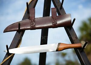 "Hanwei Viking Seax Scramsax 18"" + Premium Leather Scabbard Historically Accurate"