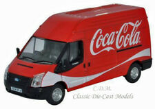 Oxford Ford Transit LWB14 High Roof Delivery Van Coca Cola 1/76 OO Scale