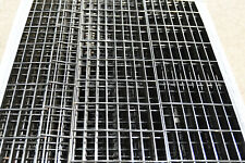 "Steel painted black Bar Grating 63"" x 9.75"""