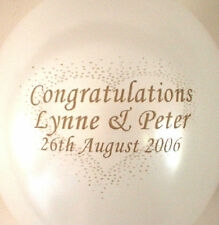 Personalised 10-50 Wedding Balloons