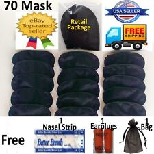70 Lot Eye Mask sleeping shade cover Blindfold rest relax travel sleep aid patch