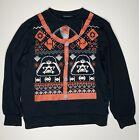 Star Wars Faces Mens Ugly Christmas Sweater Sweatshirt Black Darth Vader XL