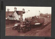 Nostalgia Postcard Steam Engine's Strange Load-Gravel Barge  1933