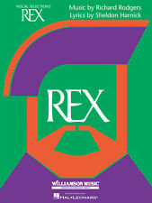 Rex The Musical for Vocal Piano Sheet Music Lyrics 11 Songs Hal Leonard Book
