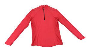 Pearl Izumi Womens Size Medium Pink 1/4 Zip Long Sleeve Cycling Jersey