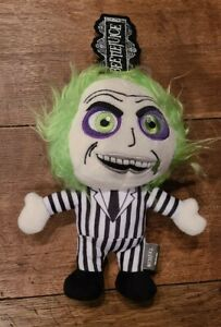 """NEW Beetlejuice Halloween Horror 8"""" Plush Dog Pet Toy with Squeaker 2021"""