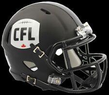 CFL LOGO 2016 Mini Football Helmet - Riddell MATTE BLACK Speed Style