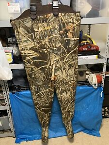 Cabelas Chest Waders Sz 2XLS Realtree MAX-4 Camo Stockingfoot Fishing Hunting