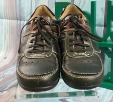 FOSSIL Mens Black Leather Casual Lace Up Oxford Sneakers Shoes Sz 8 EUC