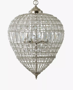 John Lewis 'Dante Grande' Ceiling Pendant Light Clear - Ex-Display Model