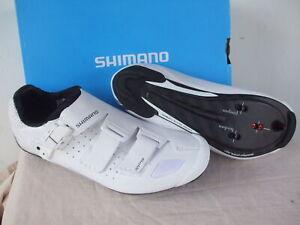 NEW - Shimano RP9 Carbon Road Shoes, White, Men's EU41, US7.6