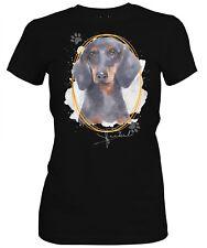 Las señoras camisa Dachshund firma perros el tema por SIVIWONDER