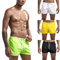 Men Fitted Workout Shorts Gym Running Boxing Training Boxer Muscle Nylon Summer