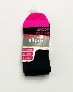 All Pro by Gold Toe Ankle Socks, 3 Pairs, Shoe Size 4-10, Soft & Smooth Fibers