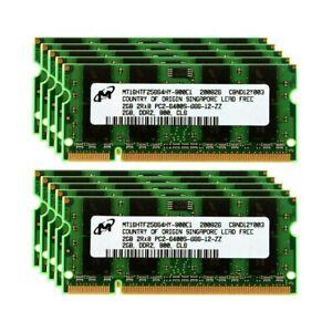 Micron Memory Ram Laptop DDR2 PC2 2GB 4GB PC2 6400S 800MHz SODIMM 200 PIN 2X LOT